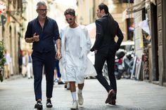 Galeria de Fotos Os looks de street style da temporada masculina Verão 2016 // Foto 183 // Notícias // FFW
