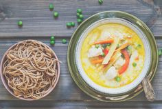 Chickens soup with whole wheat nudles. My Recipes, Healthy Recipes, Chicken Soup, Thai Red Curry, God, Ethnic Recipes, Photos, Health Recipes, Dios
