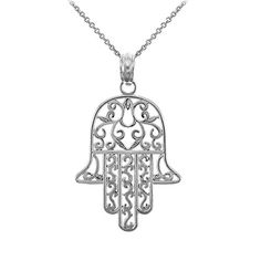 925 Sterling Silver Jewish Hamesh Hand Filigree Charm Hamsa Pendant Necklace 18 * Continue to the product at the image link.-It is an affiliate link to Amazon. #Necklace