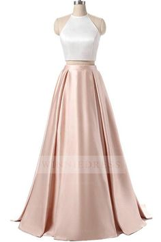 Charming Formal Halter Two Pieces Light Pink Prom Dress Chiffon Evening Dresses, Lace Prom Dress, Prom Dress Cheap, Light Pink Evening Dresses, Two Pieces Evening Dresses Prom Dresses 2020 Long Prom Dresses Uk, Senior Prom Dresses, Prom Dresses Two Piece, Cheap Prom Dresses, Formal Evening Dresses, Dress Prom, Prom Gowns, Party Dresses, Prom Dreses