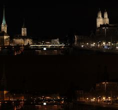 Before & After: Zurich, Switzerland switches off for Earth Hour 2012