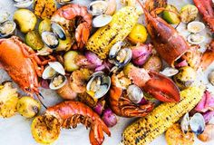 New England Clambake - use 1T of old Bay instead of 2T and add more water