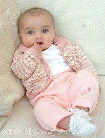 Baby Cardigan Mini Stripe by Linda Whaley - Digital Version