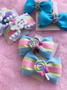 Handmade Hair Bows, Diy Hair Bows, Making Hair Bows, Diy Bow, Diy Ribbon, Bow Hair Clips, Ribbon Crafts, Ribbon Bows, Baby Girl Hair Accessories