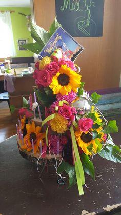 Geburtstagstorte aus Blumen