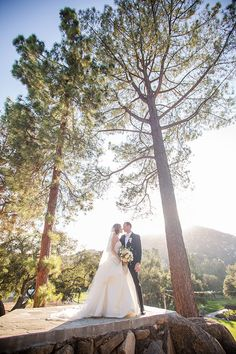 Outdoor photo of bride and groom in the forest at Mt Woodson Castle | Always Flawless Productions | San Diego's Best Wedding Planner | Real Weddings: Randi & Randy