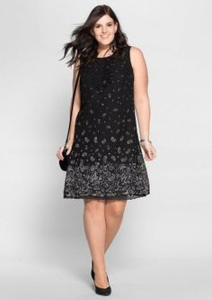 Frühlingskleider Large sizes: dress with paisley print, black and white, size 56 SheegoSheego Business Casual Outfits For Work, Office Outfits Women, Stylish Work Outfits, Fall Outfits For Work, Workwear Fashion, Office Fashion, Spring Dresses, Spring Outfits, Corporate Attire Women