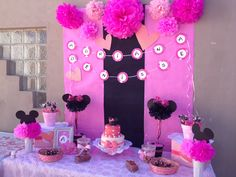 Minie's mouse party Deco table