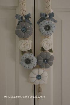 Country style: Citrulli,fiori imbottiti,rose...ebbene si' ancora collane!!!