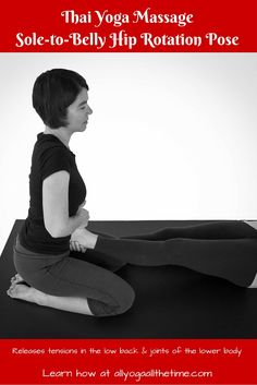Tutorial! Feeling compressed? This Thai Yoga Massage pose can help open space in your body, especially the low back and joints of the lower body. Grab a partner, give it a try!