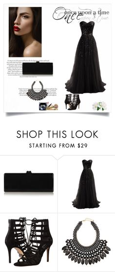 """""""Black queen"""" by abecic ❤ liked on Polyvore featuring Edie Parker, Michael Kors, H&M and Once Upon a Time"""
