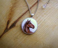 Animal Pendant Necklace Horse, horse jewelry from Abra Kadabra Jewelry by DaWanda.com