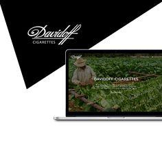 Davidoff brand page on Behance