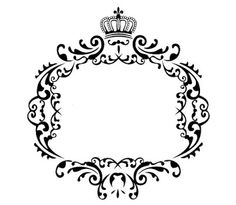 Hideia Festa: Monogramas e Arabescos Stencils, Letter Decals, Crown Tattoo Design, Banners, Frame Background, Picture Logo, Borders And Frames, Romantic Roses, Tiaras And Crowns