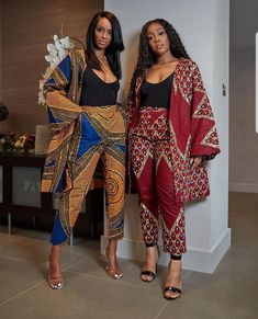 African print long jacket and Pants Two Piece Set /Ankara/African Clothing/African Fashion/Ankara Clothing/maxi pants, ankara kimono jacket African Fashion Ankara, Ghanaian Fashion, Latest African Fashion Dresses, African Dresses For Women, African Print Dresses, African Print Fashion, Africa Fashion, African Attire, African Wear