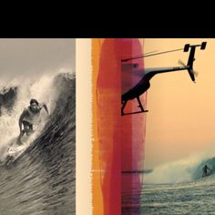 From black and white to color, you can see the oversized tank top and board shorts; which were worn years ago and are still on trend today in the surf industry.