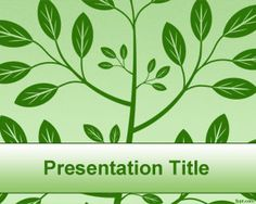 Green Tree PowerPoint Template is a free green leaves PowerPoint template with a bush image or illustration in the background