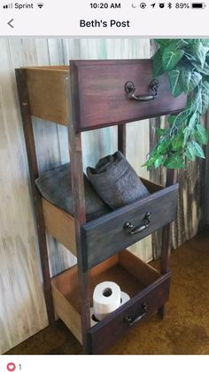 Made shelf from old drawers Regal aus alten Schubladen gemacht This image ha. Made shelf from old Diy Furniture Projects, Refurbished Furniture, Repurposed Furniture, Furniture Making, Furniture Makeover, Home Furniture, Chair Makeover, Furniture Refinishing, Diy Furniture Repurpose