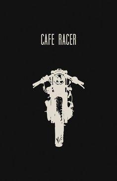 vintag poster, motorcycles cafe, art, cafe racer motorcycles, black motorcycles, caferacer, motorcycle poster, motor beauti, motorcycl poster