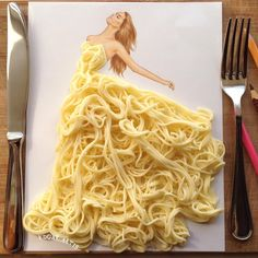 Creative Art / Funny Art ideas : Edgar Artis is an Armenian illustrator who uses a fascinating mix of paper cut outs and pencil drawings using everyday objects. Fashion Design Drawings, Fashion Sketches, Fashion Illustrations, Dress Sketches, Drawing Fashion, Design Illustrations, Arte Fashion, 3d Fashion, Dress Fashion
