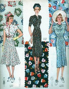 Sublime Mercies: Fashionable Cheer in the Drear of the and 1930s Fashion, Retro Fashion, Vintage Fashion, 1940s Dresses, Vintage Dresses, Vintage Outfits, Vintage Glamour, Vintage Ladies, Vintage Dress Patterns