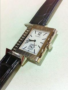 積家 (Jaeger-LeCoultre) [NEW] Reverso 1931 Silver Dial Black Leather Mens Q2783520 (Retail:HK$130,000) ~ UNBEATABLE PRICE: HK$78,800.