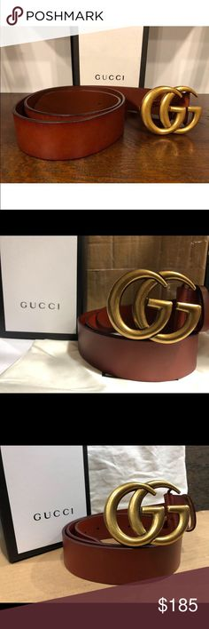 896ef18147f Brand new double GG brown brass Gucci belt Gorgeous Gucci belt Comes with  dust bag Gucci