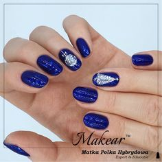 Christmas Nails 2019, Blue Nails, Beauty, Instagram, Blue Nail, Cosmetology