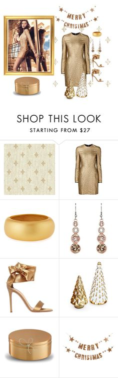 """""""Gold Rush """" by jbeb ❤ liked on Polyvore featuring GUESS by Marciano, Creatures of the Wind, Kenneth Jay Lane, Karen Millen, Gianvito Rossi, Wedgwood and Bloomingville"""