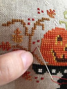 How to make an isolated stitch. I've never seen this method before - must try!