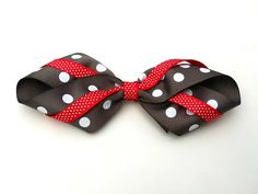 red and grey hair bow, inside out loop bow, grosgrain ribbon, grip alligator clip, big girls hair bow, layered bow, back to school by BurstingCocoonStudio on Etsy https://www.etsy.com/listing/200502974/red-and-grey-hair-bow-inside-out-loop