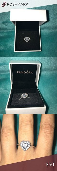Pandora ring My ex gave it to me so I'm just trying to get rid of it. Nothing wrong with it. I will clean it before shipping. Size 7. Pandora Jewelry Rings