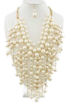 collier lariat collier plastron ras du cou collier par Paulafashion, $40.00
