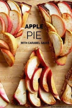 Apple Pie with Caramel Sauce | WIN-WINFOOD.com A healthy makeover of the ultimate classic #glutenfree #vegan #cleaneating
