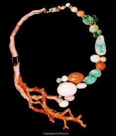 """in BOOK """"Living Jewels - Masterpieces from Nature- Coral, Pearls, Horn, Shell, Wood & Other Exotica"""" - Ruth Peltason- Vendome Press- 224pp-nov  2010 -   CORAL chapter"""