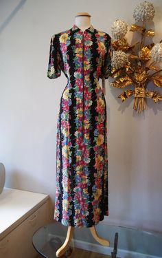 40s Dress //  40s Floral Dress // Vintage 1940s by xtabayvintage, $148.00