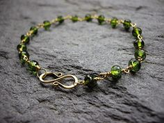 18k Gold Green Tourmaline Bracelet