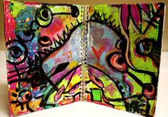 Art Journal page from Connie Hozvicka. Yum!