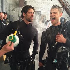 Wolf. The Last Ship behind the scenes.