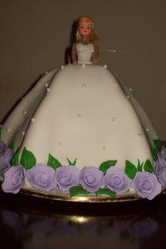 Bride's dress cake