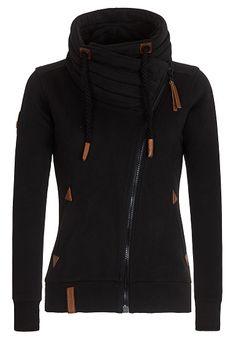 sweatshirt jacke naketano damen schwarz