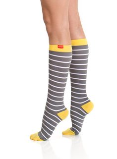 Athletes swear by compression socks to prevent cramps & minimize muscle fatigue, but you can get the extra benefits (including reducing spider & varicose veins) from these adorable ones.