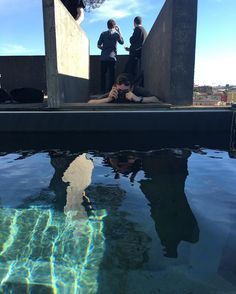 Awesome place! #lambrate #Milano #design #wandering #pool #architecture #reflection