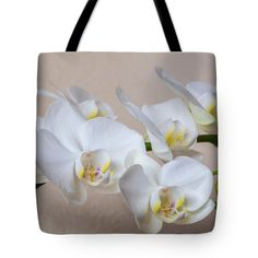 Anna Matveeva Tote Bag featuring the photograph White Orchid Flowers by Anna Matveeva  #AnnaMatveeva #bag #orchid #flowers