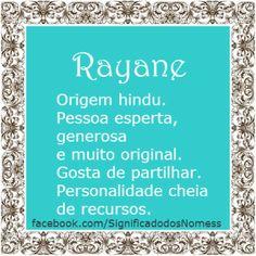 Significado do nome Rayane | Significado dos Nomes
