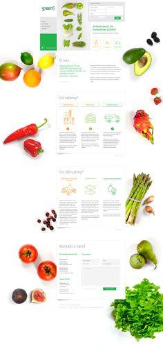 greens.net.pl by balsamstudio.com Food Web Design, Site Design, Ux Design, Layout Design, Design Trends, Ui Web, Web Layout, Apps, Interface Design
