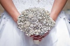 Pearly Queen Brooch Bouquet