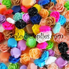 40 Rose Cabochons 12x13mm. Starting at $3 Auction is LIVE Tues Oct 29 12 am EST. Come check out the variety in Supplies of ALL Kinds http://tophatter.com/auctions/33033