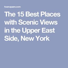 places upper east side york best massage