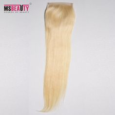 "Msbeauty 100% Remy Human Hair 4""*4"" Brazilian Straight Lace Top Closure Hand Made Can Be Customized"